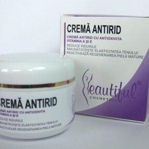 crema antirid cu antioxivita si vitamina A si E beautiful cosmetics